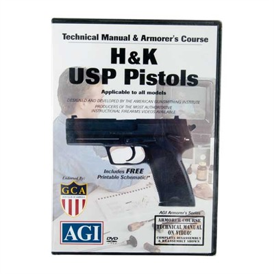 Agi H&K Usp Pistols Technical Manual & Armorer's Course Dvd
