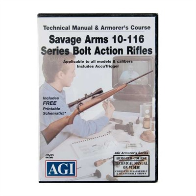 Agi Savage Arms 10 Thru 116 Series Manual & Armorer's Course Dvd