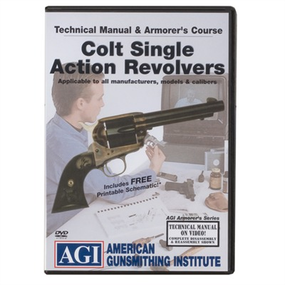 Agi Colt Single Action Revolver Technical Manual & Amorer's Dvd