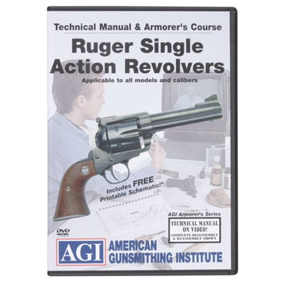 American Gunsmithing Institute Video Armorer's Courses 129 Ruger Sa Revolvers Video, Dvd : Books & Videos by Agi for Gun & Rifle