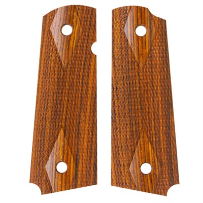 1911 Auto Square Bottom Grips Cocobolo Govt Model Checkered S&a Grip : Handgun Parts by Ahrends for Gun & Rifle