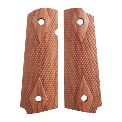 1911 Auto Square Bottom Grips - Rosewood Diamond