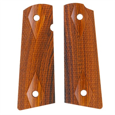1911 Auto Square Bottom Grips Cocobolo Govt Pin-cover Checkered S&a : Handgun Parts by Ahrends for Gun & Rifle