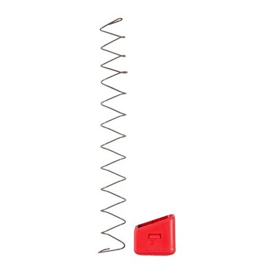 9mm/40s&W +5 Extended Base Pads For Glock - Plus 5 Base Pad W/Spring Fits Glock® 17, Red