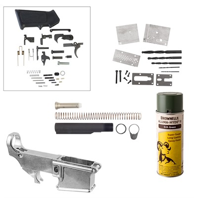 Ar-15/M16 80% Lower Receiver Jig Build Kits - Ar-15/M16 80% Lower Receiver Jig Build Kit, Od Green