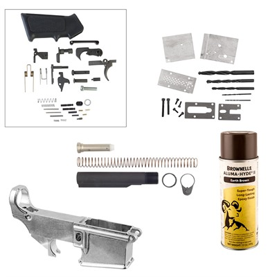 Ar-15/M16 80% Lower Receiver Jig Build Kits - Ar-15/M16 80% Lower Receiver Jig Build Kit, Earth Brow