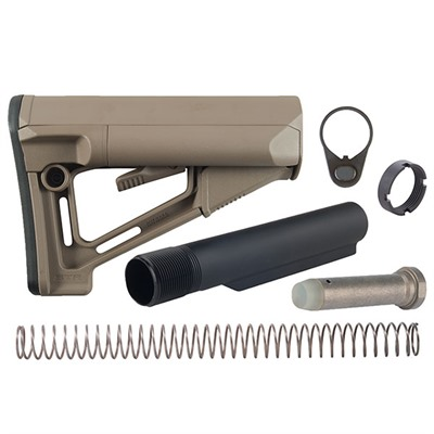 Brownells Ar-15 Str Stock Assy Collapsible Mil-Spec - Ar-15 Str Stock Assy Collapsible Mil-Spec Fde