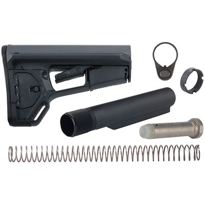 Brownells Ar-15 Acs-L Stock Assy Collapsible Mil-Spec - Ar-15 Acs-L Stock Assy Collapsible Mil-Spec Gray