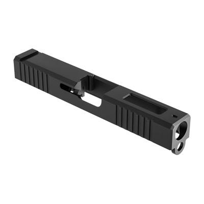 Brownells Iron Sight Slide For Glock 19 Gen 3 - Iron Sight Slide +window Gen3 Glock 19 Stainless Nitride