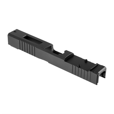 Brownells Long Slide For Gen3 Glock 19 Nitride - 19ls Slide, Rmr, F/S, Window Gen3 Glock 19 17-4, Nitide