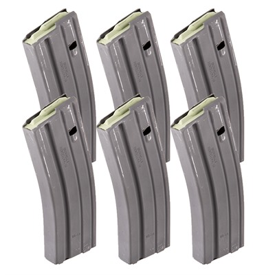 Brownells Ar 15 30rd Magazine Ss 223/5.56 Ar 15 Magazine Ss 223/5.56 30 Rd Aluminum Gray Qty 6 Online Discount