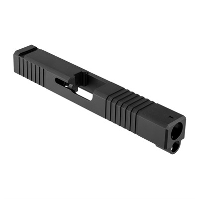 Brownells Long Slide For Gen3 Glock 19 Nitride - 19ls Slide F/S, Iron Sights Gen3 Glock 19 17-4 Ss Nitride