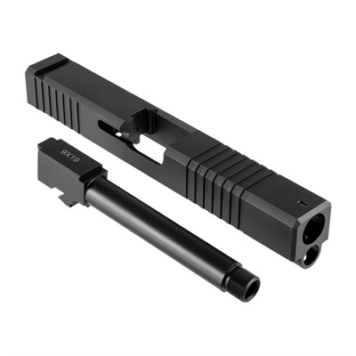 Brownells 19ls Slide & Barrel Kit For Glock - 19ls Iron Sight Slide & Barrel Kit, Thd