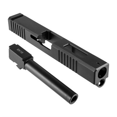 Brownells 19ls Slide & Barrel Kit For Glock - 19ls Iron Sight Window Sld & Bbl Kit, Std