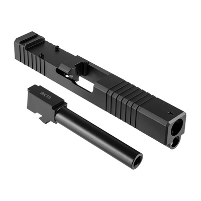 Brownells 19ls Slide & Barrel Kit For Glock - 19ls Rmr Slide & Barrel Kit, Std