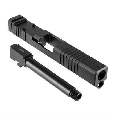 Brownells 19ls Slide & Barrel Kit For Glock - 19ls Rmr Slide & Barrel Kit, Thd