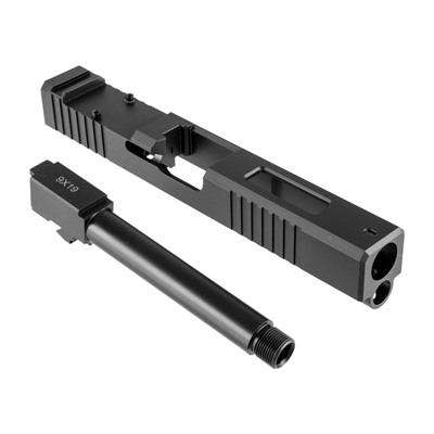 Brownells 19ls Slide & Barrel Kit For Glock - 19ls Rmr Window Slide & Barrel Kit, Thd