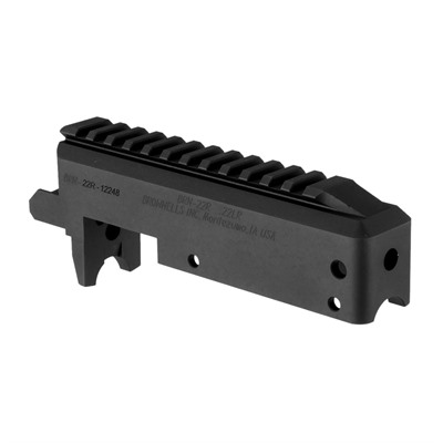 Brownells Brn-22 Stripped Receiver For Ruger 10/22 - Brn-22r Stripped Railed Receiver