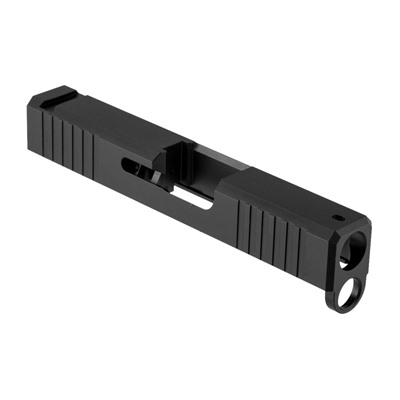 Brownells Slide For Glock G43 - Iron Sight Slide For Glock 43 Stainless Nitride