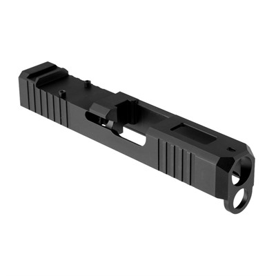 Brownells Rmr Cut Slide For Glock 26 - Rmr Slide +window For Glock 26 Gen 1-4, Ss Nitride