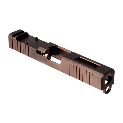 Brownells Rmr Cut Slide For Glock 19 Gen 3 - Rmr Slide +window For Gen3 Glock  19 Bronze Pvd