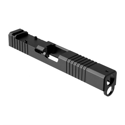 Brownells Rmr Cut Slide For Glock 17 Gen 4 - Rmr Slide For Gen 4 Glock 17 Stainless Steel Blk Nitride