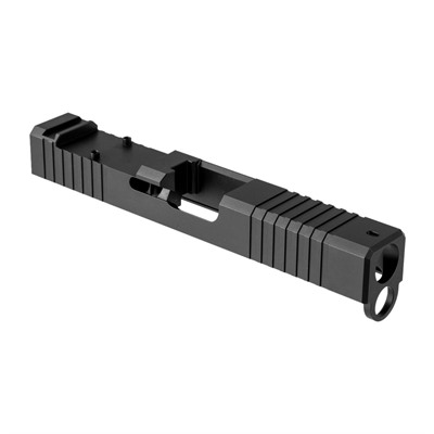 Brownells Rmr Cut Slide For Glock 19 Gen 4 - Rmr Slide For Gen 4 Glock 19 Stainless Steel Blk Nitride