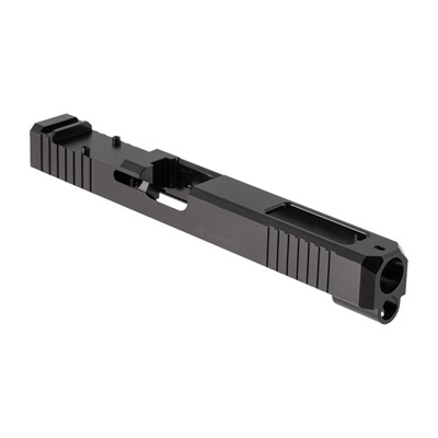 Brownells Rmr Cut Slide For Glock 34 - Rmr Slide + Window For Glock 34 Gen 3, Ss Nitride