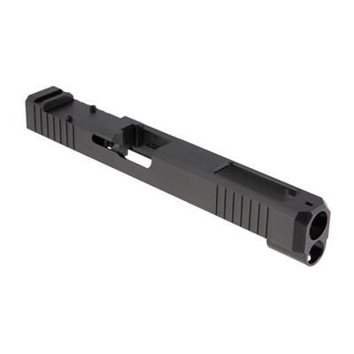Brownells Rmr Cut Slide For Glock 34 Gen 4 - Rmr Slide + Window For Glock 34 Gen 4, Ss Nitride