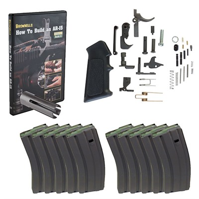 Brownells Ar-15 Starter Kit With Ten 30-Round Cs Magazines