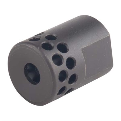 Brownells Ar-15 Short Muzzle Brake 22 Caliber - Short Muzzle Brake 22 Caliber 1/2-28 Steel Black