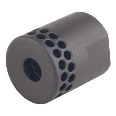 Brownells Ar .308 Short Muzzle Brake 30 Caliber - Short Muzzle Brake 30 Caliber 5/8-24 Steel Black