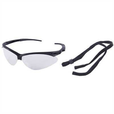 Brownells Protective Shooting Glasses - Clear Protective Shooting Glasses Black