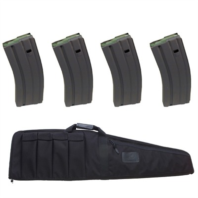 Buy Brownells 38'''' Tactical Weapons Case W/ 4 Brownells 30-Round Cs Magazines
