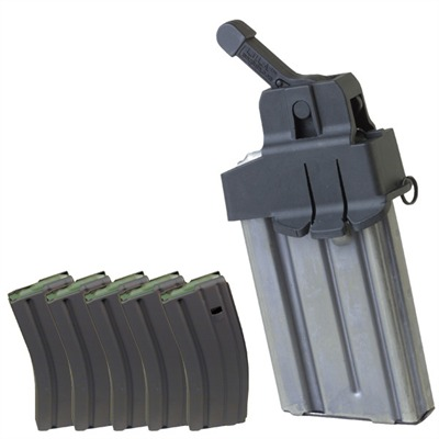 Ar 15/M16 Mag Loader & Five 30 Round Magazines W/Cs Spring Discount