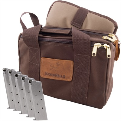Brownells Signature Series Pistol Bag & Five .45 1911 Mags - Signature Series Pistol Bag & Five .45