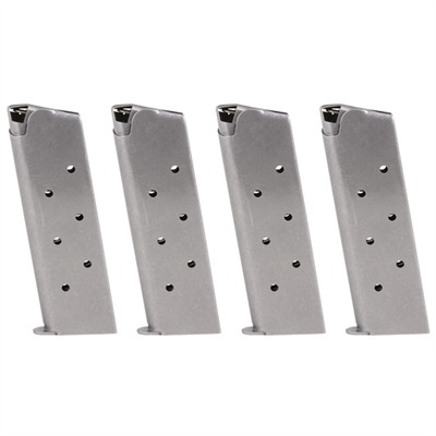 Four Stainless Steel .45 1911 Auto Magazines  Four Stainless Steel .45 1911 Auto Mags