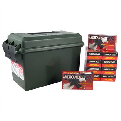 American Eagle Ammo 9mm Luger 124gr Fmj Ammo Can - 9mm Luger 124gr Full Metal Jacket 500/Ammo Can