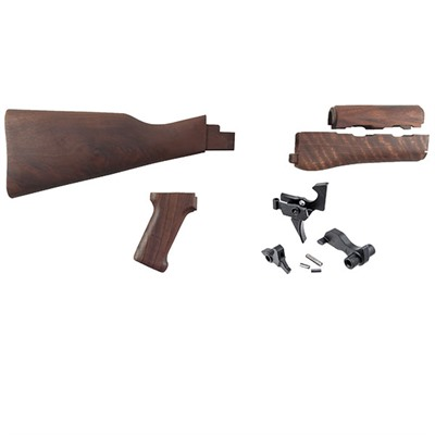 Ak-47 Walnut Stock And Trigger Set