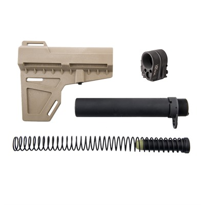 Brownells Kak Shockwave Pistol Brace & Law Tactical Folding Stock Adapter - Shockwave Fde With Law Tactical Folding Stock Adapter