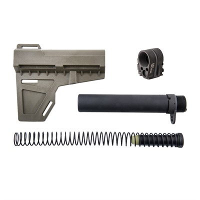 Brownells Kak Shockwave Pistol Brace & Law Tactical Folding Stock Adapter - Shockwave Od Green With Law Tactical Folding Stock Adapter