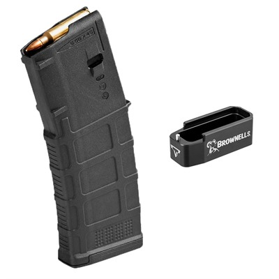 Brownells Ar-15 Pmag Gen M3 With Black Magazine Extension - Gen M3 Pmag 30rd Magazine With Brownells Mag Extension