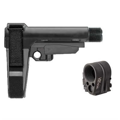 Brownells Sba3 Pistol Stabilizing Brace & Ar-15/M16 Gen3-M Folding Adapter - Sba3 Pistol Brace & Ar-15 Gen3-M Folding Adapter Black
