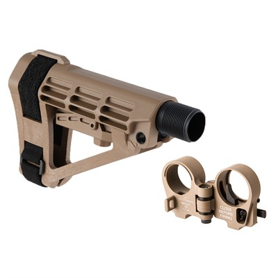 Brownells Sba4 Adjustable Brace & Ar-15/M16 Gen3-M Folding Stock Adapter - Sba4 Adjustable Brace & Ar-15 Gen3-M Folding Adapter Fde
