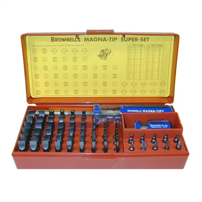 Brownells 58 Bit Magna-Tip Master Set Plus #81 Handle