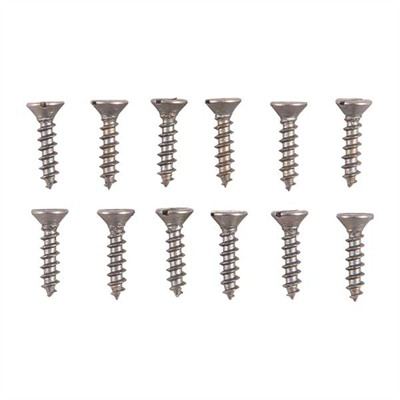 Brownells Unplated Steel Flat Head Wood Screw Kit - 2 X 3/8