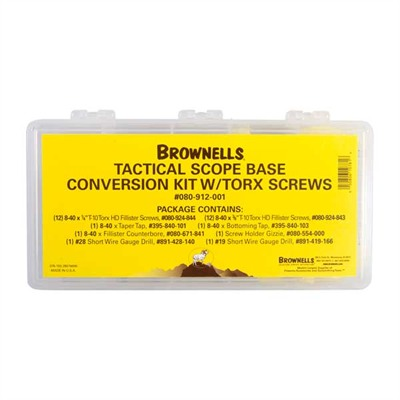 Brownells Tactical Scope Base Conversion Kit - Scope Base Conversion Kit, Torx