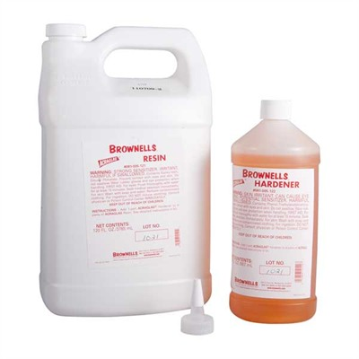 Brownells Acraglas - 120 Oz. Resin And 30 Oz. Hardener