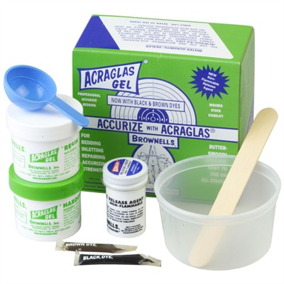 Brownells Acraglas Gel - Acraglas Gel 4 Oz. Kit, Non-Flammable