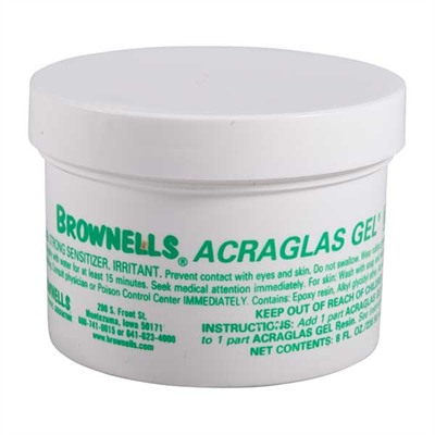 Brownells Acraglas Gel - 8 Oz. Acraglas Resin